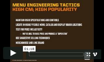 Menu Engineering Video